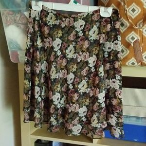 Express ladies floral skirt - size P
